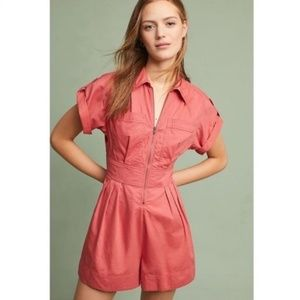 Anthropologies Holding Horses Burnt Orange Romper